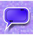 Blue Speech Bubble vector image