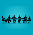 business people having a meeting vector image
