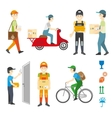 Courier and delivery service set vector image
