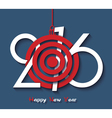 Creative design Happy new year 2016 greeting card vector image