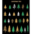 Hand drawn Christmas Tree elements vector image