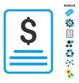 Invoice Flat Icon With Bonus vector image