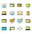 Programming Icons Set vector image