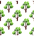 Seamless trees with leafy branches pattern vector image