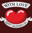Valentine Heart with sign vector image