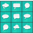 White Speech Bubbles vector image