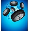 Wheels Background vector image