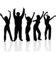 everyone dance vector image vector image