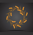 gold wheat icon vector image