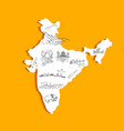 Indian Map vector image vector image