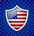 American shield badge vector image vector image