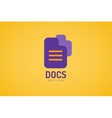 Abstract document template logo icon Back to vector image