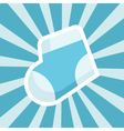 Baby Shower sock Icon vector image