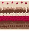 Cherry cake seamless pattern vector image