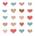 Sketch Romantic Love Hearts Retro Doodles Icons vector image