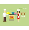 Chefs Team People Group Flat Style vector image