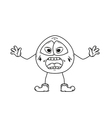 emoticon shout sketch vector image