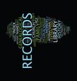 Lds genealogy text background word cloud concept vector image