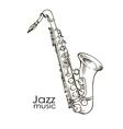 hand drawn saxophone vector image