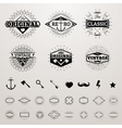 Vintage lines insignia set with star burst hipster vector image