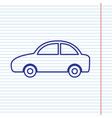 car sign   navy line icon on vector image