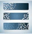 silver horseshoes banners set vector image