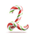 2 number two 3d number sign figure 2 in vector image