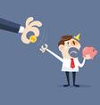 Hand grabbing money vector image