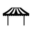 carnival fast food cart vector image