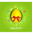 Easter yellow egg gift card vector image