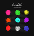 scribble smears set vector image