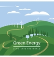 wind turbines and solar panels vector image