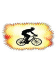 background with bicyclist silhouette vector image vector image