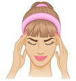 Woman with headache vector image