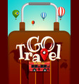 vacation travelling concept travel with different vector image