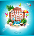 summer time holiday typographic on vintage wood vector image