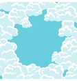 Abstract background card with sky and clouds vector image vector image