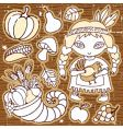 thanksgiving design elements vector image