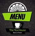 Modern Tea House Menu Card Design template vector image vector image