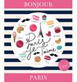 Paris background design vector image