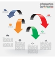 Infographic report template with arrows and icons vector image