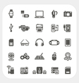 Electronic and gadget icons set vector image