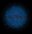 futuristic abstract background with dark blue vector image