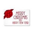 Gift Card with Bow and Ribbon vector image