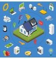 Smart house technology system with centralized vector image