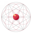 Magic ritual with candle Sacred geometry sign