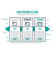 Pricing plan line pixel vector image