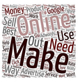Best Way to Make Money Online What It Takes text vector image