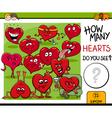 how many hearts activity vector image