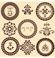floral retro frames and design elements vector image vector image
